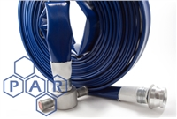 6906 - Blue TPU Potable Water Layflat Hose Assemblies
