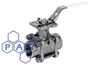 Three Piece Ball Valve - Female BSPT