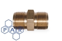 "½"" x 3/8"" bspp coned male brass adaptor"