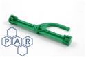 green plastic fire door break bar (6/pk)