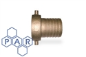 "½"" brass lug type fem bspp x hose tail"