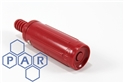 "red plastic fire nozzle x ¾"" hose tail"