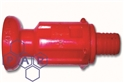 "red mushroom fire nozzle x 1"" hose tail"