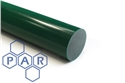 100Ø green oil filled nylon 6 rod