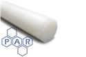 18Ø natural extruded nylon 6 rod